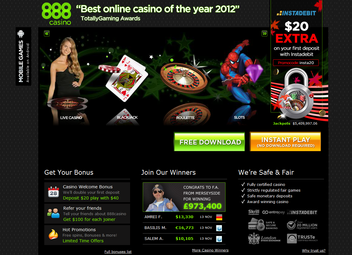 online casino in the world